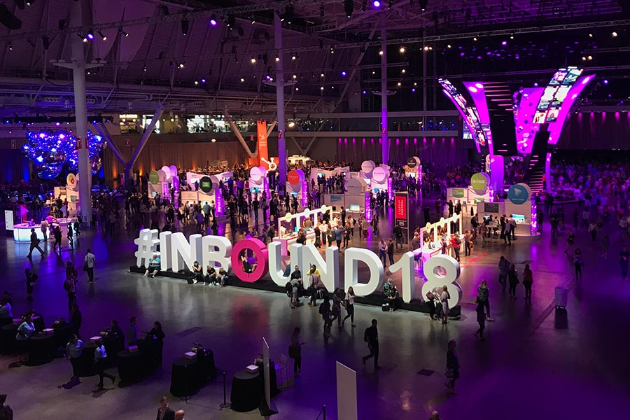 The exhibition floor at INBOUND 2018