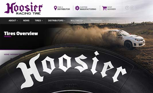 Hoosier Tire Featured Responsive Web Site Redesign