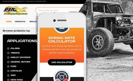 PAC Racing Featured Responsive Web Site Redesign